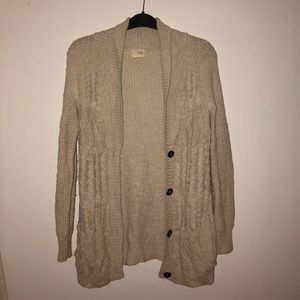 Urban Outfitters Cream Cotton Cardigan